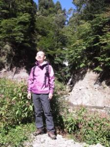 帰りの日光澤温泉で、自生するクレソンの沢
